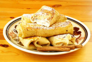 Cheese-Filled Pesach Blintzes