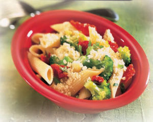 pasta with broccoli onions cheese