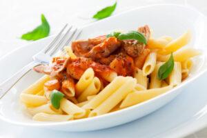 tuna pasta,shallow dof