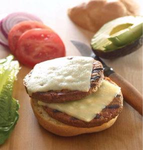 Double-Veggie-Cheeseburgers