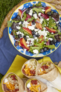 Blueberry,-Peach,-and-Goat-Cheese-Wrap-or-Salad